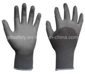 Nylon Work Glove with Knuckle Dipped PU (PN8009) pictures & photos