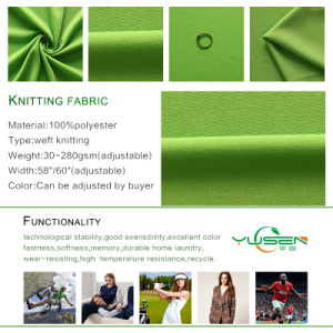 Factory Wholesale High Quality 100 Polyester Knitted Interlock Fabric pictures & photos
