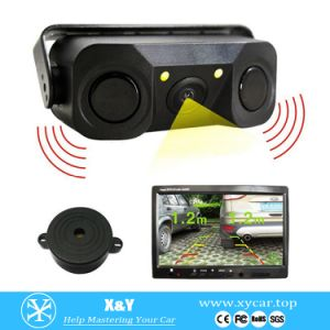 Car Rearview Camera with Parking Sensor Xy-9818d