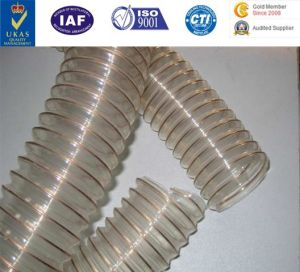 PU Flexible Ducting Hose Urethane Hose Polyurethane Pipe PU Duct with Steel Cord pictures & photos