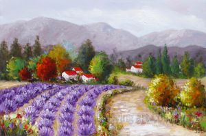 Colorful Decorative Modern Landscape Canvas Art with No Frame pictures & photos