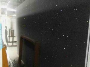 Black Galaxy Color Quartz Stone Big Slab pictures & photos