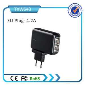 5V 4.2A 4 USB Wall Mount Adapter pictures & photos