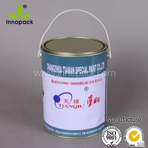 1 Gallon Chemical Tinplate Paint Can with Plastic Handle pictures & photos
