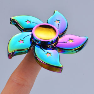 Colorful Rainbow 3 Apple Finger Toy Fidget Hand Spinner pictures & photos