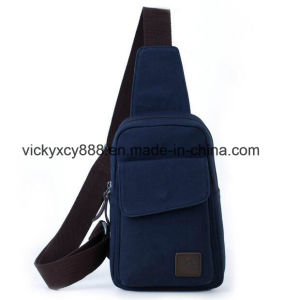 Men Quality Leisure Canvas Single Shoulder Messenger Chest Bag (CY3677) pictures & photos