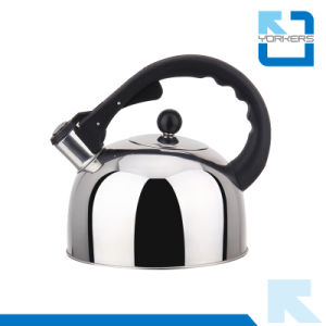 3L Red/Blue/Golden Stainless Steel Kitchenware Tea Kettle Whistling Kettle pictures & photos