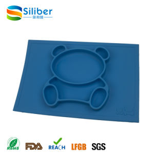 FDA Approved BPA Free One-Piece Silicone Placemat Mat for Children pictures & photos