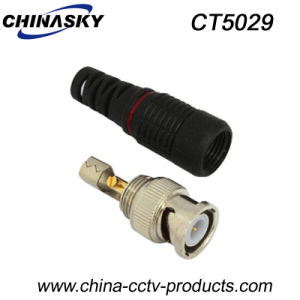 Male Solderless BNC Connector with Boot for Security System (CT5029) pictures & photos