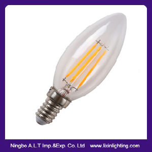 C35 2W/4W/6W Candle LED Filament Bulb for Decoration pictures & photos