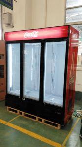 3 Door Transparent Glass Door Commercial Refrigerator pictures & photos