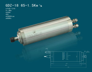 Hqd Hanqi 65mm 1.5kw CNC Router Spindle Motor (GDZ-18)
