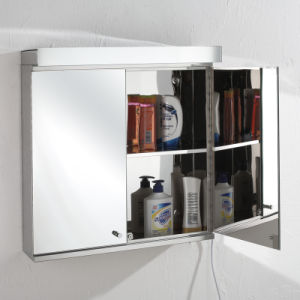 Bathroom Furniture Illuminated Large Mirrored Cabinet 7060 pictures & photos