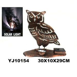 Classical Metal Rusty Owl W. Solarlight Garden Decoration pictures & photos