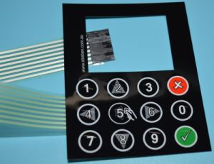 Alphanumeric Keypad Membrane Switch Flexible Circuit with 3m Adhesive pictures & photos