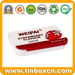 Rectangular Metal Tin Sliding Container with Food Grade, Slide Tin Box pictures & photos