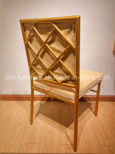 Stacking Famous Peacock Paintings Steel Pipe Price Banquet Poltrona Frau Chair, Tiffiny Chairs Wedding pictures & photos