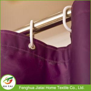Wholesale Best Vintage Discount Purple Polyester Shower Curtain pictures & photos