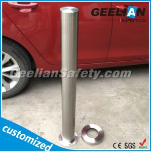 Stainless Steel Parking Fixed Bollard, Hot Dipped Galvanized Traffic Permanent Bollard pictures & photos