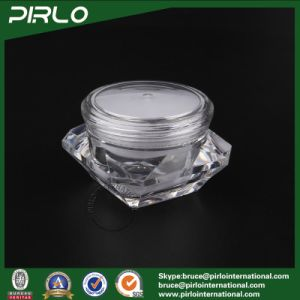 15g 15ml 15cc Luxury Square Diamond Shaped Acrylic Jar with Round Screw Lid Nail Gel Packing Plastic Jar Acrylic Cosmetic Cream Jars pictures & photos