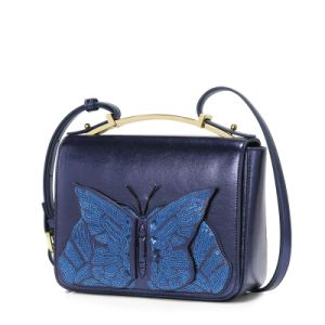 New Designer Shiny Beaded Butterfly Girls Fashion Handbags Satchel Bag pictures & photos