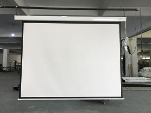 Portable Wall Mounted Electric Projector Screen pictures & photos