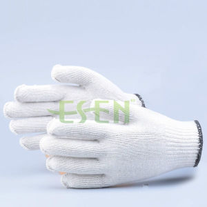 10 Gauge 35g-60g White Cotton Knitted Work Gloves pictures & photos