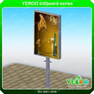 Outdoor Advertising Unipole Column Steel Billboard Material pictures & photos