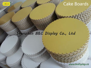 Round Corrugated Cake Boards with 6mm/9mm/12mm, Cake Boads with Foil Paper (B&C-K054) pictures & photos