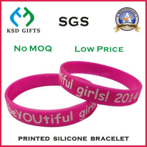 Laser Engraved Serial Number Silicone Wristband pictures & photos