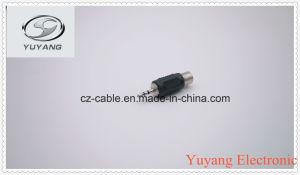 Plastic 2.5mm Mono Plug to RCA Jack pictures & photos