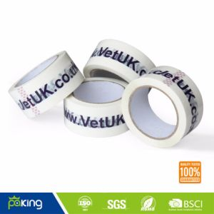 Black Logo Printed at White Blackground BOPP Packing Tape pictures & photos
