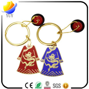 Colorful Flat Shape Tang Clothing Metal Zinc Allly Key Chain with Imitation Enamel Effect pictures & photos