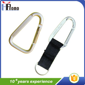 D Shaped Carabiner with Lanyard