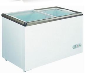 12/24V DC Solar Powered Glass Door Display Freezer with Trailer pictures & photos