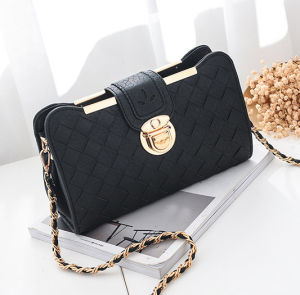 New Style Weaving Crossbody Bag PU Women Clutch Bag pictures & photos