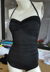 80%Nylon 20%Elastane Black Sexy Ladies Swimsuit pictures & photos