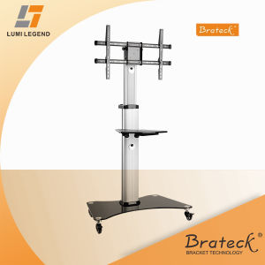 Height Adjustable Aluminum TV Cart Flat Panel Stand