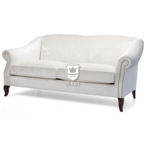Hotel Classical Velvet Sofa Set with Curve Arms and Legs pictures & photos