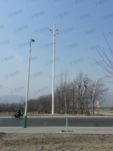 Galvanized Steel Pole Green Belt Station