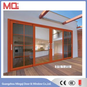 Aluminum Sliding Door with Blinds Insert Double Glass pictures & photos