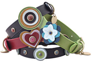 Real Leather Pet Collar with Round/Flower/Heart Charms pictures & photos