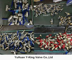 Brass Foot Valve Used in Water (YD-3004) pictures & photos