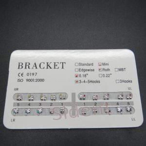"Orthodontic Dental 022"" Slot 3 Hooks Edgewise Metal Brackets Braces pictures & photos"