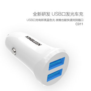 Kinglen′model C911 Dual USB Battery Car Charger 5V2.4A Produced by The Original Factory pictures & photos