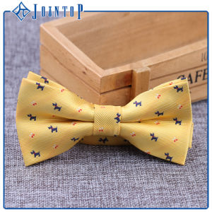 Wholesale Lovely Animal Silk Woven Bow Tie pictures & photos