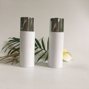 100ml White Plastic Bottle with Silver Aluminum Lid pictures & photos