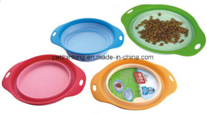 Pet Producst Supply, Dog Cat Outdoor Flexible Water Bowl pictures & photos