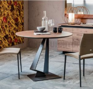Leisure Coffee Conference Table Iron Wood Dining Table (NK-DTB085)