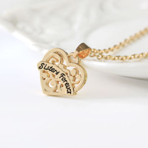Metal Sister& Forever Heart Bff Bestie Friendship Pendant Necklace Gift Zinc Alloy pictures & photos